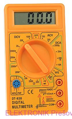 Multimeter DT838